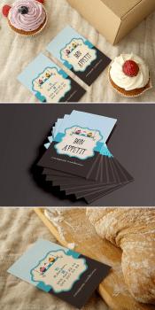 визитки для домашних сладостей без сахара