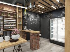 дизайн офиса-студии мастерской флористики лофт
