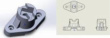 3D модель по чертежу в SolidWORKS