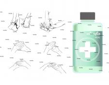 антисептик для рук и кожи иллюстрация упаковка