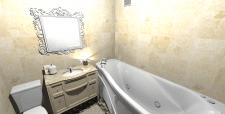 Двокімнатна квартира в НБ, 62 кв.м., ванна вид1