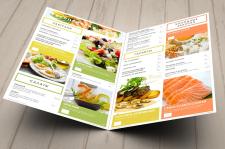 Европейское меню для суши-бара Оригами