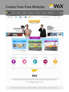 "сайт-визитка компании по веб-разработки ""Wix"""