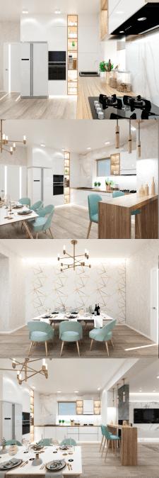 Дизайн частного дома. Кухня
