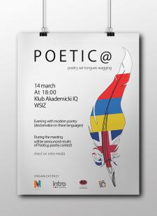 Информационный плакат к конкурсу Poetic@