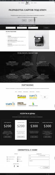 """Разработка сайта для Веб-студии """"Белая Сова"""""""