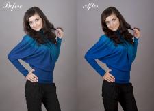 Photo retouching.