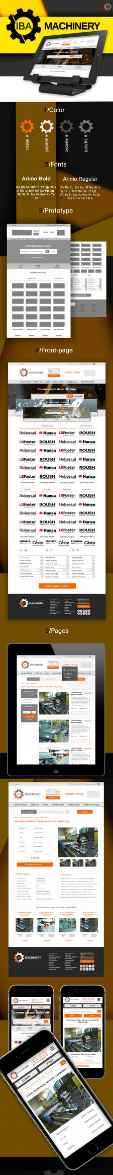 Machine tools - UX/UI website redesign concept