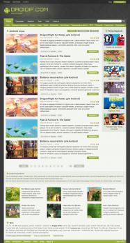 дизайн сайта обзоров на анроид приложения
