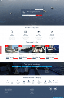 Наполнение международного сайта яхтами
