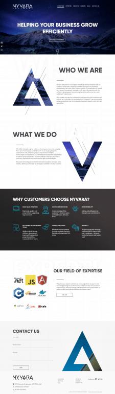 Сайт-визитка IT-компании - Nyvara Software