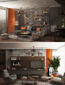 Studio apartment in loft style_1