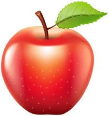 ВЕКТОРНЯ ГРАФИКА - яблоко