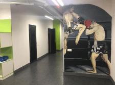 Роспись стены для боксерского клуба