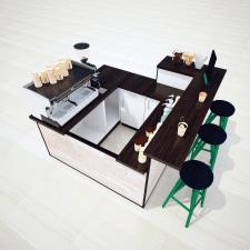 3D визуализация торгового оборудования BONO COFFEE
