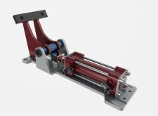 Konstruktion 3d pneumatische Stopper
