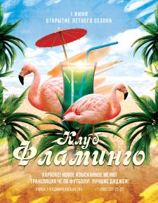флаер - клуб Фламинго