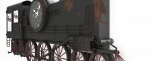 Модель вешалки Wall clock train Kare design