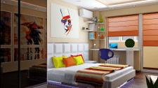 Яркая спальня для молодой семьи