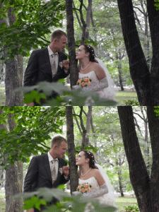 Ретушь свадебной фотосъемки
