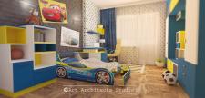 Мод. и визуализация детской кровати в интерьере