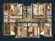 3d план квартир - вид сверху