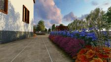 Проект участка частного дома