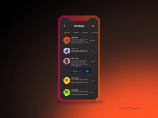 Design of mobile feed activity