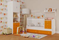 Визуализация детской кроватки-трансформера.