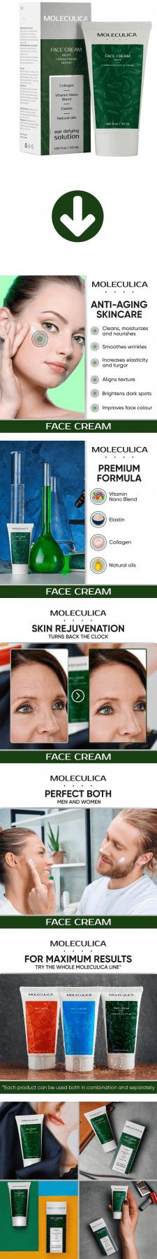 Листинг Amazon - Moleculica Night Face Cream