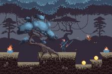 Рисунок игровой локации. Пиксель арт 8-бит