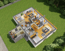 3D планировка дома_1 этаж