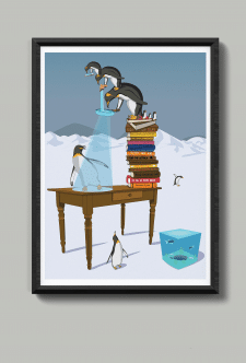 penguins & books