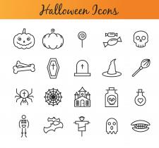 Иконки на тему Хэллоуин.