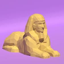 Sphinx(Low Poly) для #papercraft