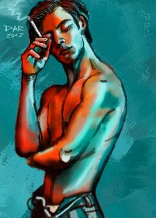Юноша с сигаретой.