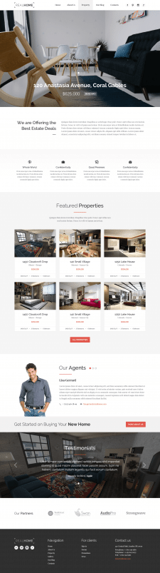 Real Home Site design