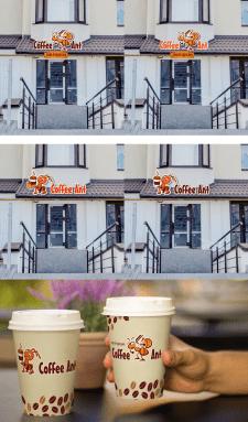 Логотип и вывеска для кофейни