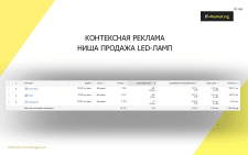 Ниша продажа LED ламп