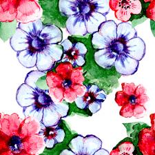 Бесшовный паттерн цветы