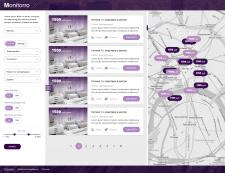 Дизайн сайта поиска недвижимости Monitorro