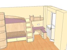Схема расположения мебели в детской