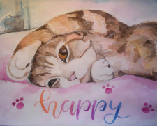 Kitten watercolor
