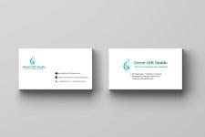 Создание логотипа и визитки для Green Gift Studio