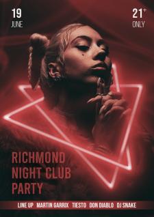 Постер для ночного клуба