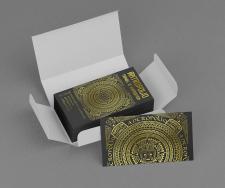"""""""Ацтекские"""" визитки для туристической компании"""