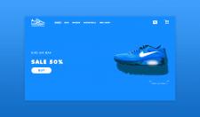 Дизайн сайта американского магазина кроссовок
