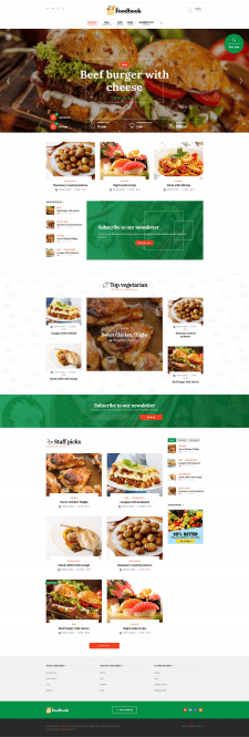 Foodbook - Premium WordPress шаблон