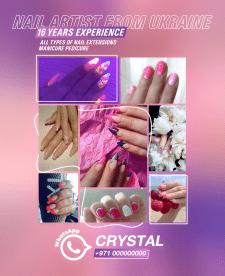 Рекламный баннер в соц. сети для Nail Art мастера