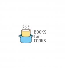 Логотип для книжного киоска спец. на кулинарии.